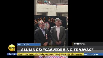 Jaime Saavedra fue ovacionado por alumnos en Ayacucho
