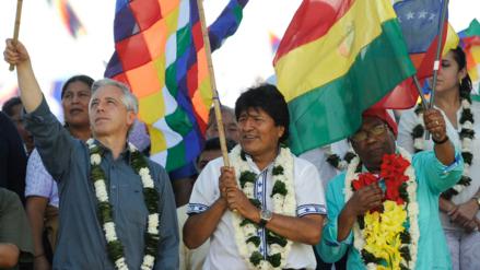 Evo Morales ratifica su candidatura para el 2019 en acto multitudinario