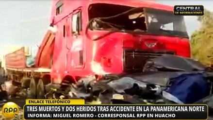 Tres miembros de una familia murieron en un accidente de tránsito en Huacho