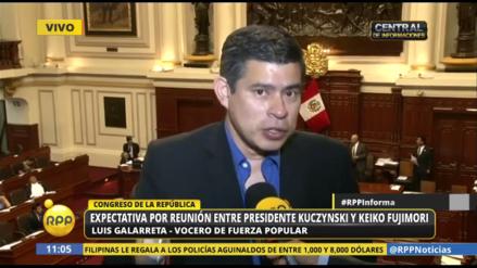"""Galarreta: """"Zavala nos dio la razón respecto a la reforma educativa"""""""