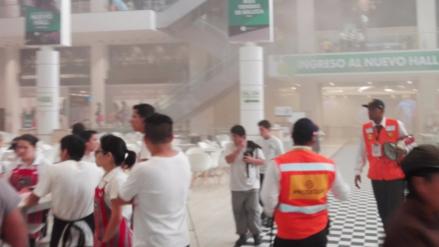 Alerta de incendio en el Jockey Plaza obligó a su evacuación