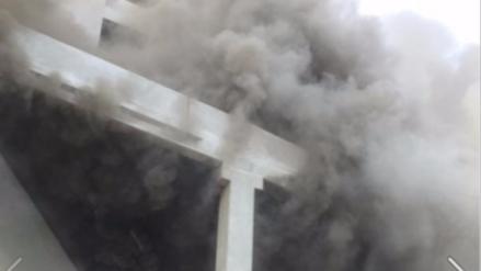 Así fue el amago de incendio en el centro comercial Jockey Plaza