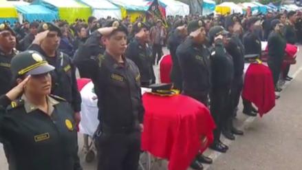 Llegan al Cusco restos de cuatro policías fallecidos en accidente