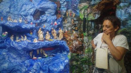 Construyen gigantesco nacimiento por Navidad en Chiclayo