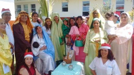 Chiclayo: escenifican nacimiento en vivo en hospital de EsSalud