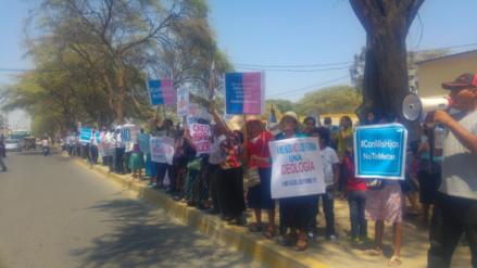Piura: ciudadanos protestan en contra de ideología de género