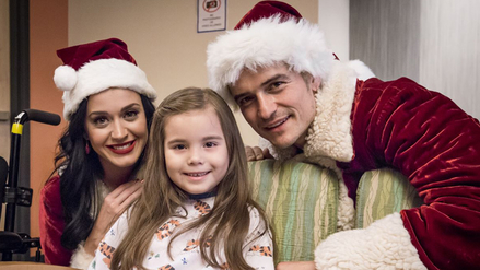Katy Perry y Orlando Bloom sorprenden a niños en hospital
