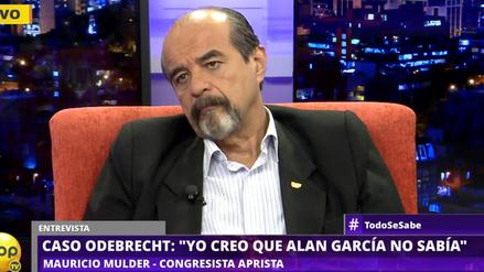 """Mulder sobre sobornos de Odebrecht: """"Pongo las manos al fuego por Alan García"""