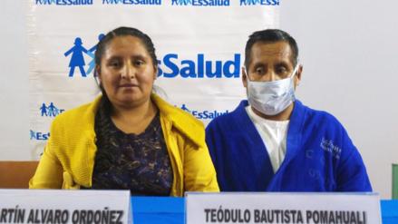 Realizan primer trasplante de riñón entre padre e hija en Huancayo