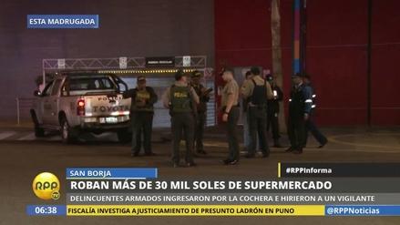 Delincuentes robaron más de 30 mil soles de un supermercado de San Borja
