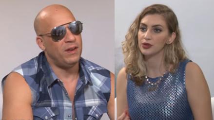 Vin Diesel incomodó con sus coqueteos a una periodista brasileña