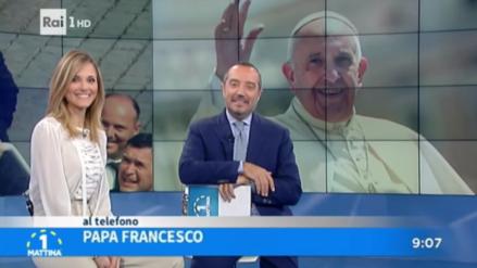 Papa Francisco llamó a un programa de TV y mandó saludos por Navidad