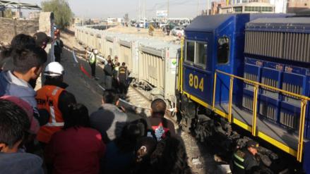 Un sujeto murió decapitado por un tren en Arequipa