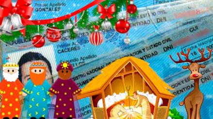 Reno, Trineo, Guirnalda y otros nombres navideños inscritos en el Reniec