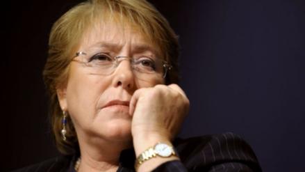 Michelle Bachelet tras el terremoto en Chile: