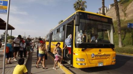 El Metropolitano iniciará su servicio a playas el 29 de diciembre