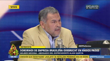 """Abogado de Alan García. """"Congreso no debe inmiscuirse en el caso Lava Jato"""""""