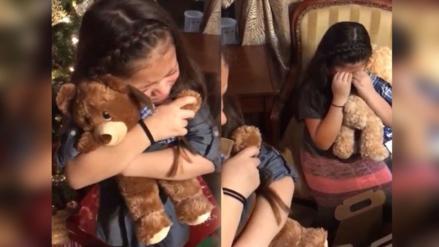 Twitter: niñas reciben peluches con la voz de su abuelo, reacción conmueve en la red