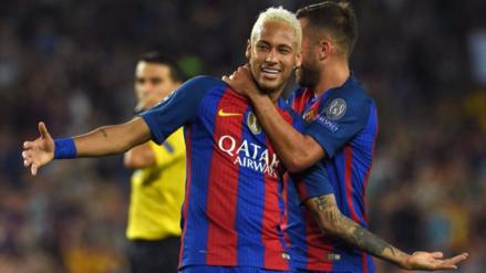Neymar organizó increíble jugada de 7 pases sin que el balón caiga al césped