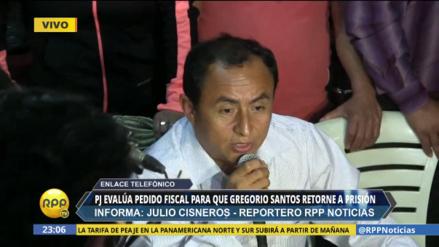 Hoy se decide si Gregorio Santos vuelve a prisión ante pedido del fiscal