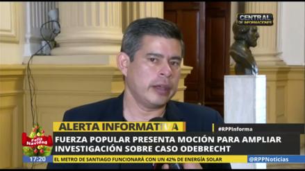 Fuerza Popular presenta moción para acelerar investigación del caso Odebrecht