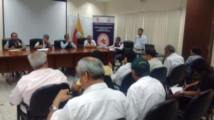 Autoridades se reúnen para evaluar problemática de sequía en Lambayeque