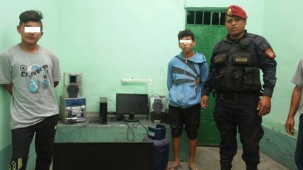 Chiclayo: menores de edad intervenidos por robar artefactos y herramientas