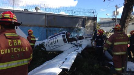 Una avioneta se estrelló en el centro de la capital de Guatemala