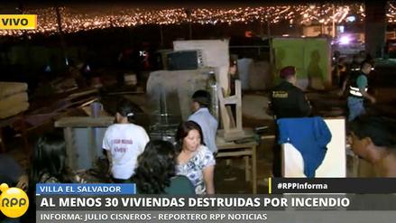 Así quedó el asentamiento humano incendiado en Villa el Salvador