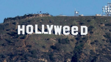 El letrero de Hollywood fue cambiado para que diga 'Hollyweed' en alusión a la marihuana