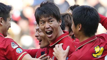 Shuto Yamamoto anotó el primer gol del 2017 y su equipo se coronó campeón