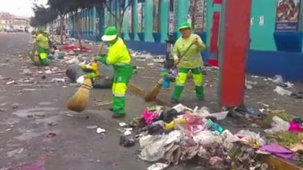 Ambulantes dejan gran cantidad de basura en Trujillo