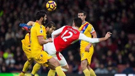 Arsenal venció al Crystal Palace con un escorpión de Olivier Giroud