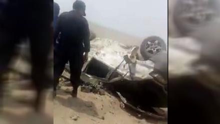 Huacho: cinco muertos dejó despiste y vuelco de una miniván