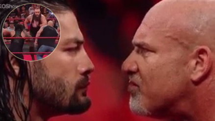 Goldberg y Roman Reigns se unieron para derribar a Braun Strowman