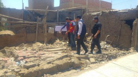 Vivienda colapsó tras sismo y dejó una persona herida en Chiclayo