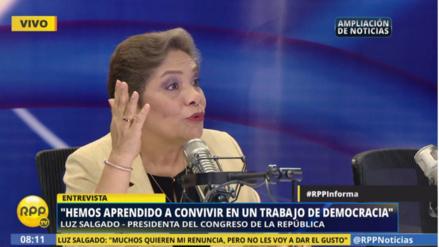 Salgado dijo que su gestión no se ha visto involucrada en actos de corrupción