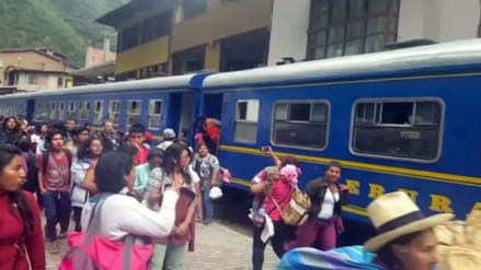 Por lluvias tren a Machu Picchu no saldrá de la estación de Poroy