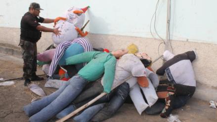 Ocho personas multadas en el distrito de La Victoria por quemar muñecos