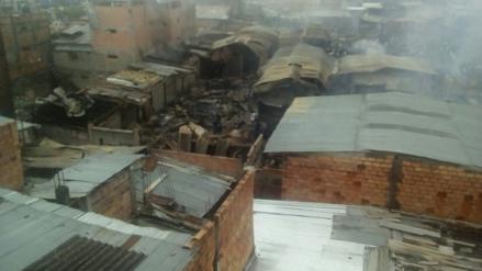 Así quedó el mercado Nueva Cajamarca tras incendio