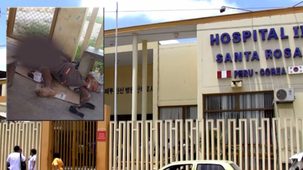 Piura: indigente fallece en piso de hospital Santa Rosa