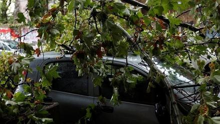 Las intensas lluvias en Uruguay dejaron destrozos y 34,700 personas sin luz