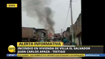 Un incendio consumió una vivienda en Villa El Salvador