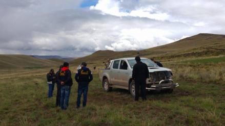 Sujetos secuestraron chofer para robarle y desmantelar camioneta en Puno