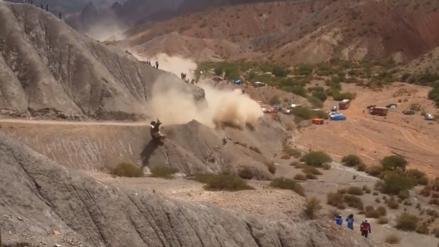 Carlos Sainz protagonizó un terrible accidente en la cuarta etapa del Rally Dakar 2017