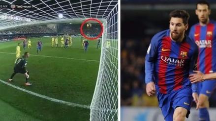 Golazo de tiro libre de Messi salvó al Barcelona de la derrota