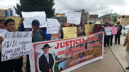 Familiares de exalcalde de Arapa claman justicia por su asesinato