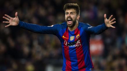 Gerard Piqué reclamó al presidente de La Liga tras el empate del Barcelona