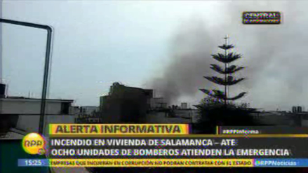 Reportan que un incendio consume vivienda en Salamanca
