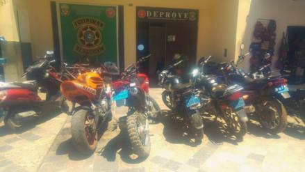 Cajamarca: policías recuperan seis motocicletas robadas en diversos puntos del país